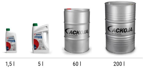 ACKOJA barrels and bottles