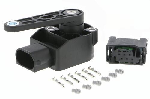 Sensor, headlight range adjustment